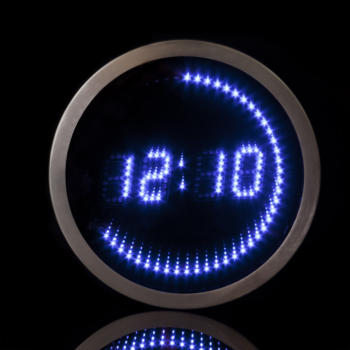 M LED-mirror-Clock/143LED/B/D3000 al